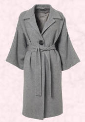 Grey wide sleeve coat - 2006 Fashion History